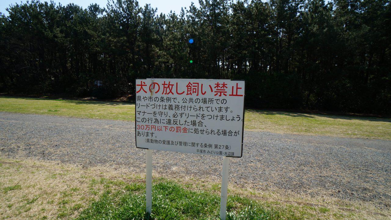 湘南海岸公園 注意書き