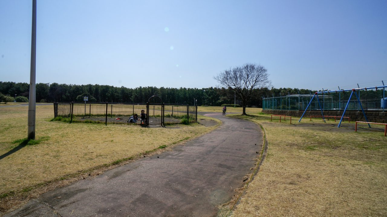 湘南海岸公園 砂場