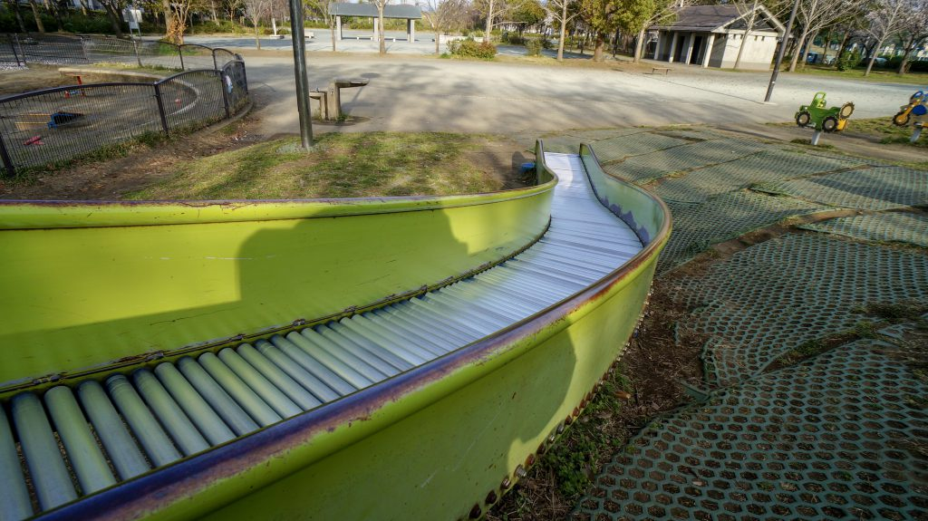 大塚山公園 滑り台3